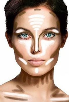 shows where to put your bronzer and highlights. interesting