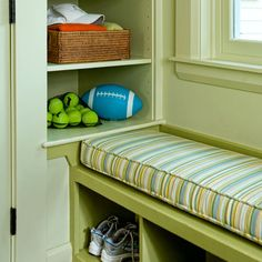 For additional storage, carve out shelves in the walls flanking your window seat. | Photo: Eric Roth | thisoldhouse.com