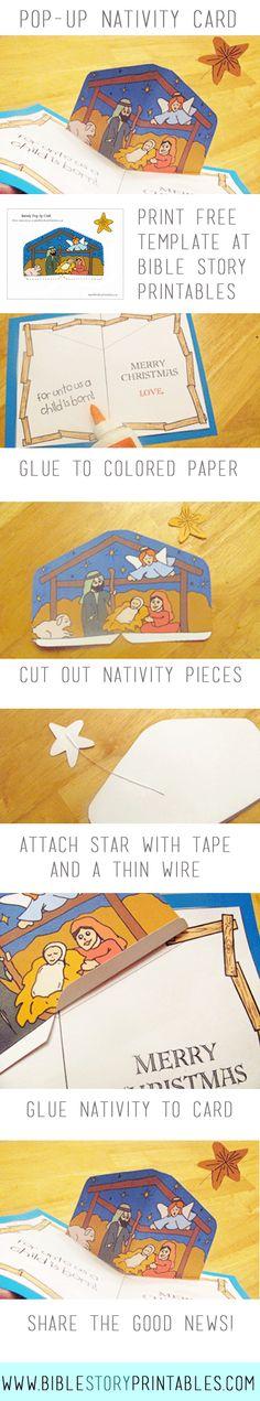 Pop Up Nativity Craft for Kids