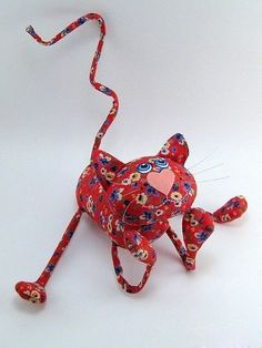 Free toy cat pattern - in Russian :D