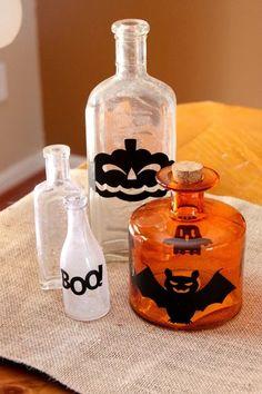 Halloween Bottles - so cute!