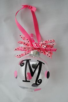 MONOGRAMMED ORNAMENT by TipsyMollieDesigns on Etsy, $10.00