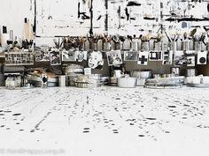 ; artists, interior, studio spaces, art studios, artist studios, danish, black white, workspac, tenka gammelgaard