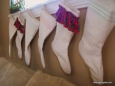 knock-off grain sack stockings