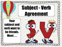 This is a great product to use to introduce subject-verb agreement. There are several anchor charts included. I've included the rules for the subje...