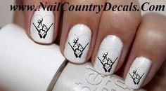 50pc 2 Hearts Browning Shot Gun Love Country Nail Decals Nail Art Nail Stickers Best Price  NC512