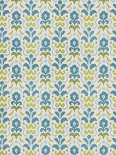 Pattern Montenegro in color Turquoise Lime from the Dana Gibson collection for Stroheim. Available in four colorways.