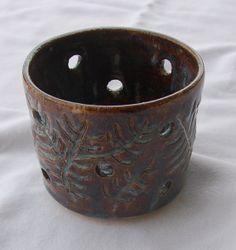 Pottery Candle Holder Ceramic Candle Holder by PotteryBySaleek, $22.00