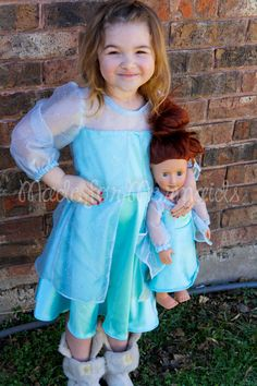 "Elsa Frozen DOLLY Dress 15"" or 18"" doll PDF Pattern instant download on Etsy, $4.00"