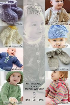 8 Baby Basics to knit for your wee one or as gifts for upcoming baby showers | free patterns