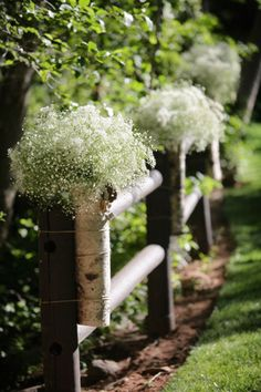 baby's breath aisle markers