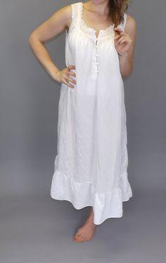 Vintage Newport News White Cotton Nightgown by alicksandraflin