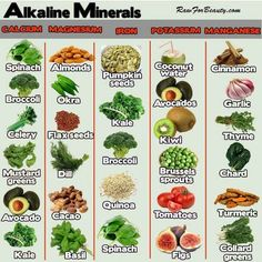 Alkaline Minerals courtesy of Raw for Beauty