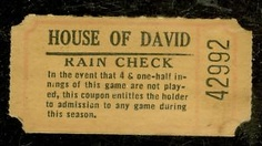 Image detail for -1930's House of David Baseball Ticket Rain Check 42992 | eBay