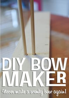 So easy to make my own bows with this DIY Bow Maker!