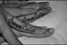 siempre contigo- tattoo,-always with you...could see this for a couple but also for best friends who live miles away
