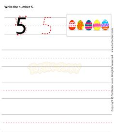 Number Writing Worksheet 5 - math Worksheets - preschool Worksheets