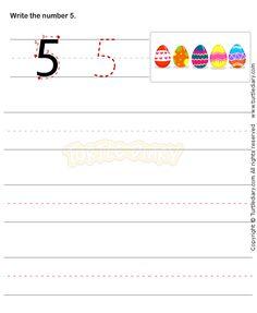 Number Writing Worksheet 5 - math Worksheets - preschool Worksheets