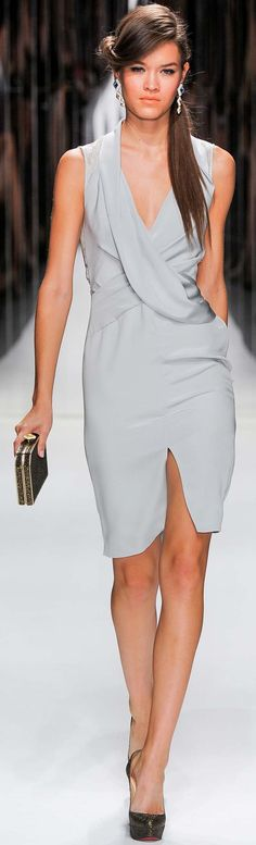 #Jenny Packham Spring Summer 2013 Ready-To-Wear Collection - Dresses  #Grey