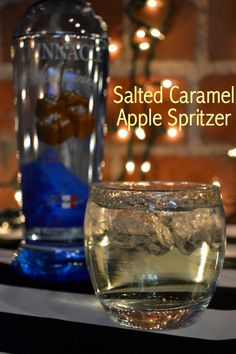 Salted Caramel Apple Spritzer - 2 parts Pinnacle salted caramel vodka - 1 part sour apple pucker - splash of club soda