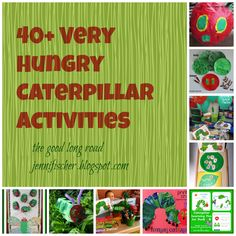 happy birthdays, activities for kids, caterpillar activ, craft activities, book, play ideas, hungry caterpillar, eric carle, hungri caterpillar