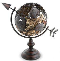 Globe Centerpieces, World Centerpieces, Travel Themed Wedding