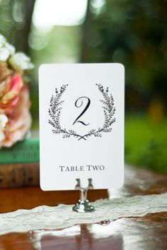 Sweet Vintage Wedding Table Number Signs 1-20. $25.00, via Etsy.