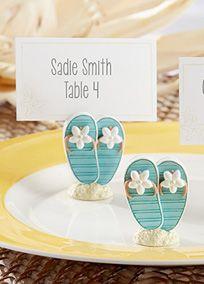 Flip-Flop Place Card/Photo Holder, Style 2515NA #davidsbridal #beachwedding #weddingreception