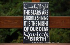 O Holy Night Christmas Typography Scripture Subway Art