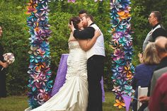 Paper flower arch... to say the least!