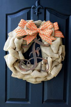 Items similar to Fall wreath- Monogram Wreaths for door - Wreath - Door Wreaths - Fall Wreaths for door - Wreath for door on Etsy