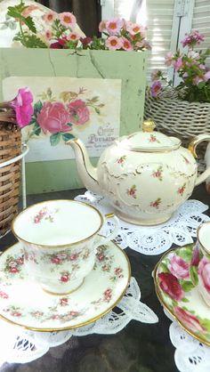 a gardening tea party