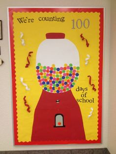 Counting 100 Days of School... bulletin board