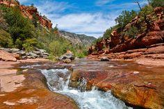 Slide Rock State Park in Arizona, between Flagstaff and Sedona