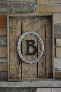 Old crate, old frame and initial....love this!