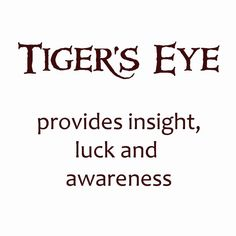 the meaning of tiger's eye