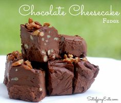Chocolate Cheesecake Fudge | Everything you love about fudge and cheesecake but without all the sugar! | www.satisfyingeats.com cheesecak fudg, everything dessert, chocolate desserts, low cheesecake, chocol cheesecak, dessert low carb, chocolate cheesecake fudge