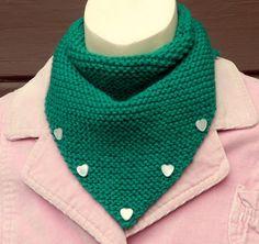 Saint Patrick's Day Emerald Green Kerchief Scarf Hearts by stinkR, $18.00