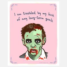 Zombie Goals 8x10, $18, now featured on Fab.