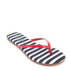 Stripey flip flop sandals