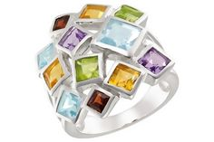 Fierce multi-gemstone ring. Would you rock this ring?
