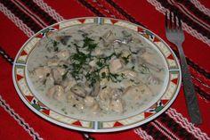 Reteta Ciulama de pui cu ciuperci din categoria Mancaruri cu carne