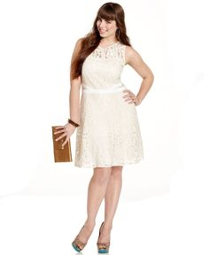 American Rag Plus Size Dress, Sleeveless Lace A-Line - - Macy's
