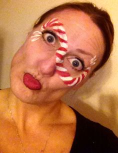 christma facepaint, soror christma, face paintingchristma, church christma, facepaint idea