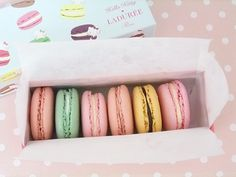 Lovely Macaroons on a pink background :D