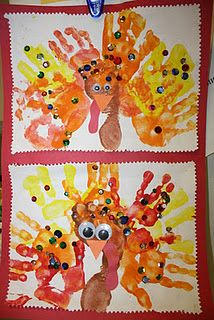 school thanksgiv, kid fun, holiday fun, handprintfootprint turkey, afterschool express