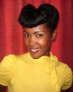 Retro Natural Hairstyles   Black Women Natural Hairstyles