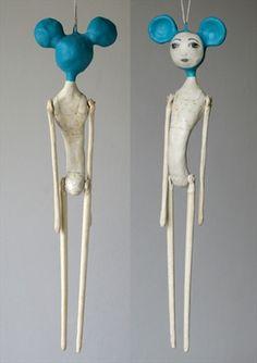 Surrealist art doll.