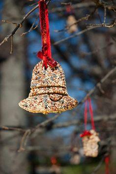 Birdseed ornaments for Christmas!