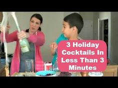 ▶ 3 Holiday Cocktails In Under 3 Minutes - #YouTube